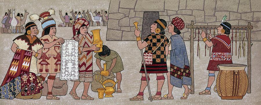 Emissaries Bring Tribute To Inca Photograph