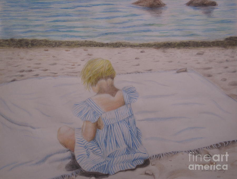 Emma On The Beach Tapestry - Textile
