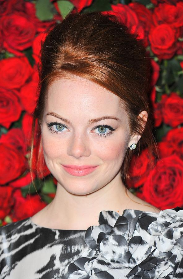 Emma Stone At Arrivals For Momas 4th Photograph  - Emma Stone At Arrivals For Momas 4th Fine Art Print