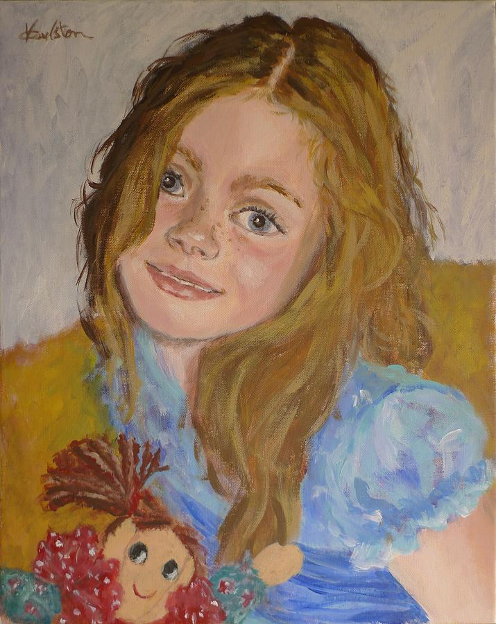 Portrait Painting - Emma by Veronica Coulston
