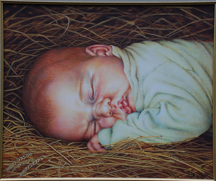 Baby Painting - Emmanuel by Ruth Gee