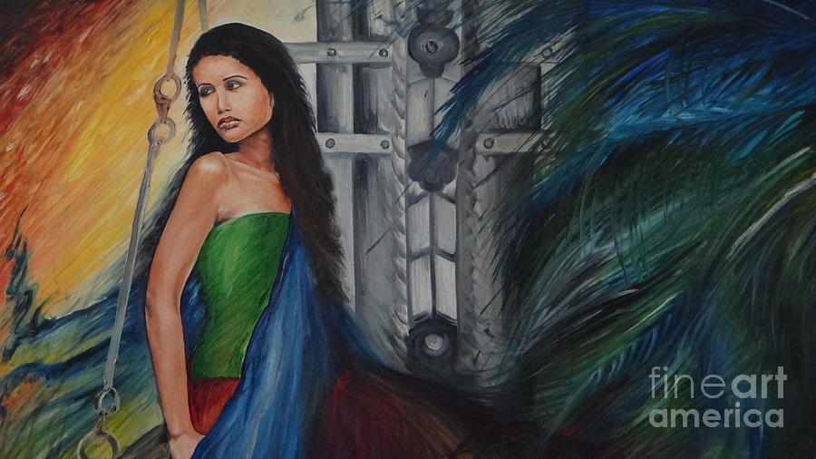 Figurative Painting - Emotions by Tanuja Chopra