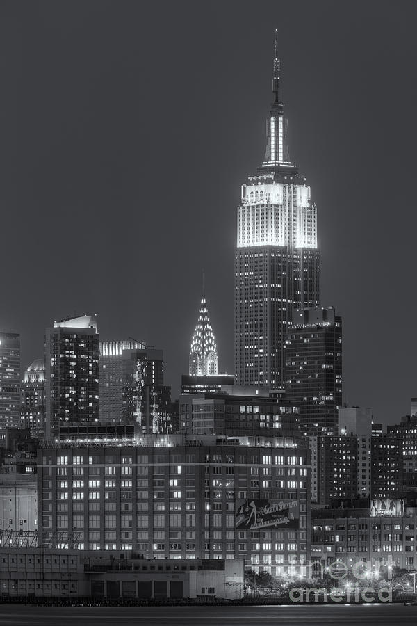 Empire State And Chrysler Buildings At Twilight II Photograph