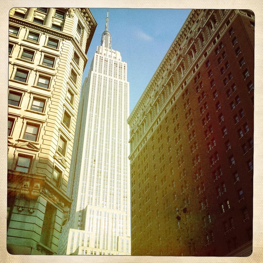 Square Photograph - Empire State Building by Ben Peterson