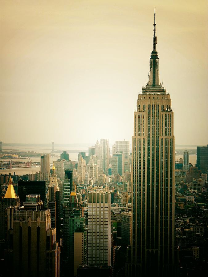 Empire State Building New York Cityscape Photograph  - Empire State Building New York Cityscape Fine Art Print