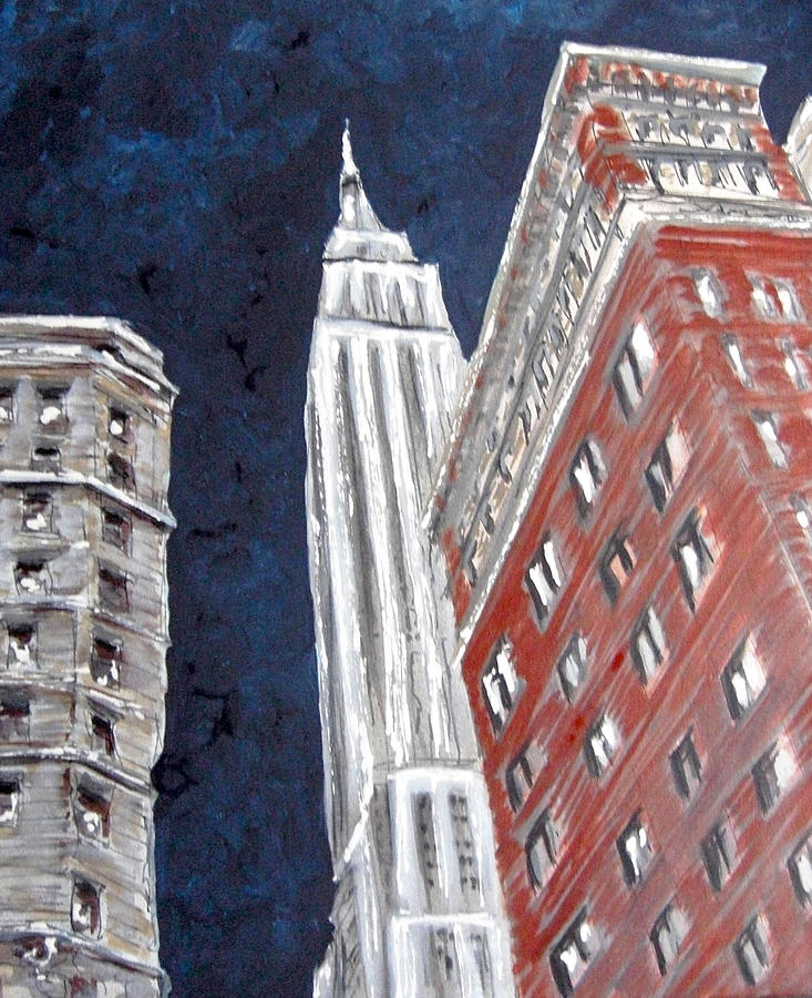 Empire State Building Painting by Romina Diaz-Brarda
