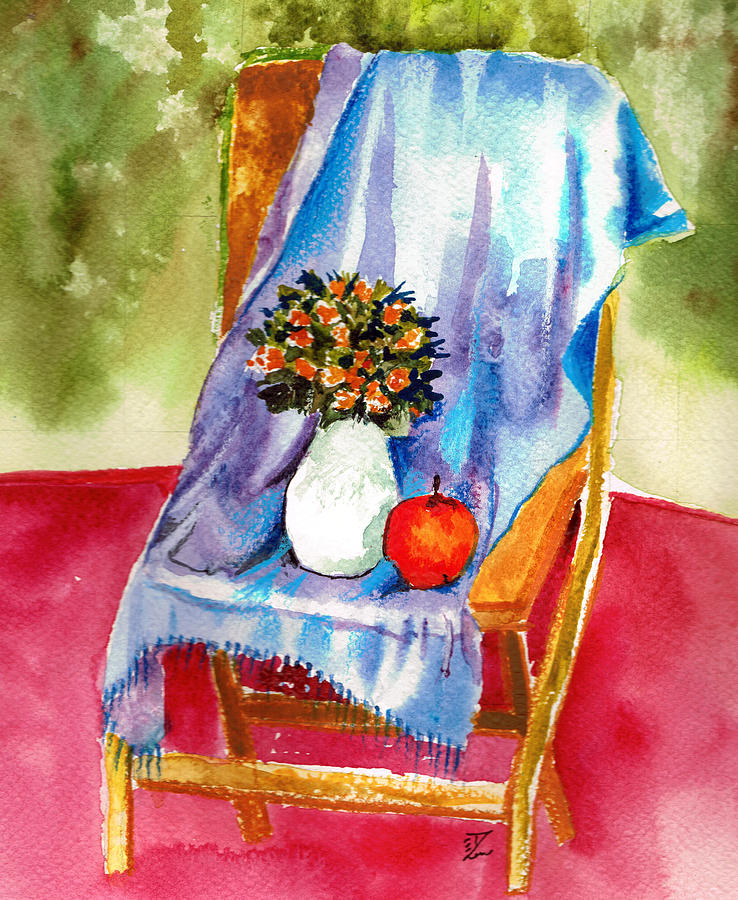 Empty Chair Painting  - Empty Chair Fine Art Print