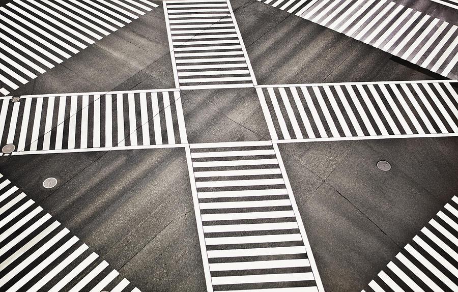 Empty Crosswalk Shibuya Crossing Photograph