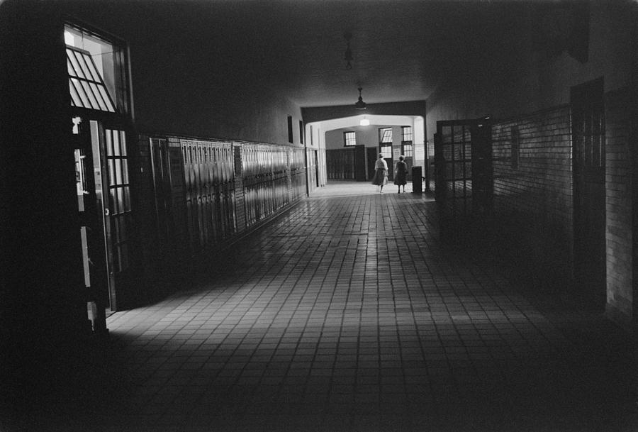 Empty Hallway At Central High School Photograph