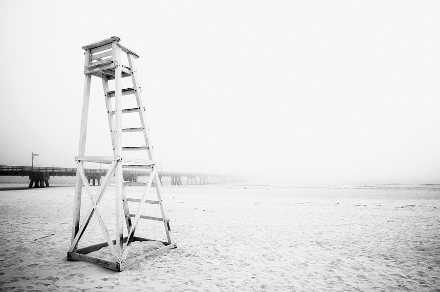 Empty Life Guard Tower 2 Photograph  - Empty Life Guard Tower 2 Fine Art Print