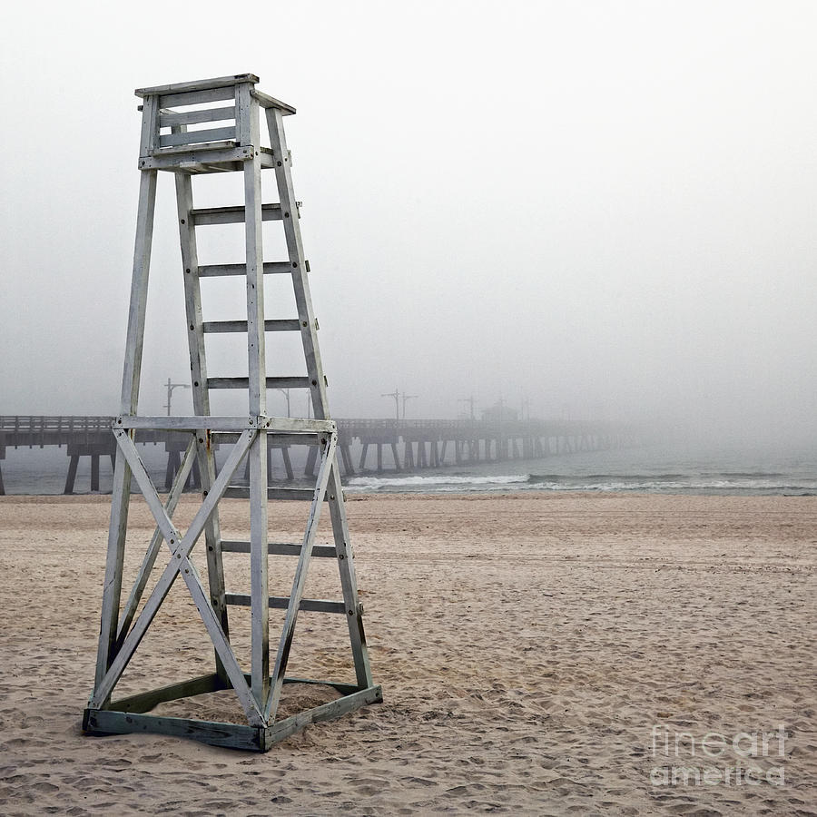Empty Lifeguard Chair Photograph  - Empty Lifeguard Chair Fine Art Print
