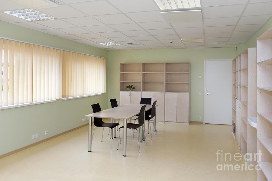 Empty School Classroom Photograph