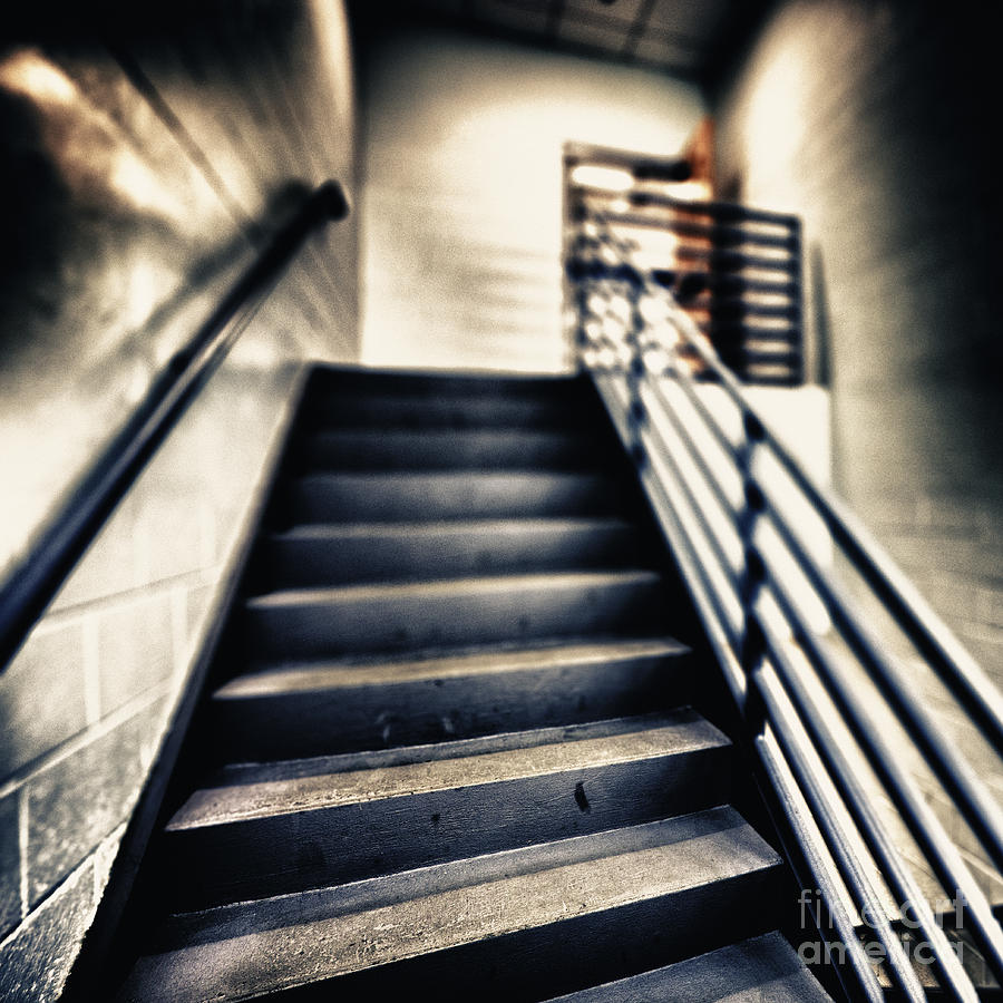Blurry Photograph - Empty Stairwell by Skip Nall