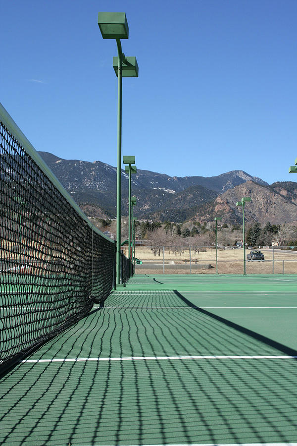Empty Tennis Courts Photograph  - Empty Tennis Courts Fine Art Print