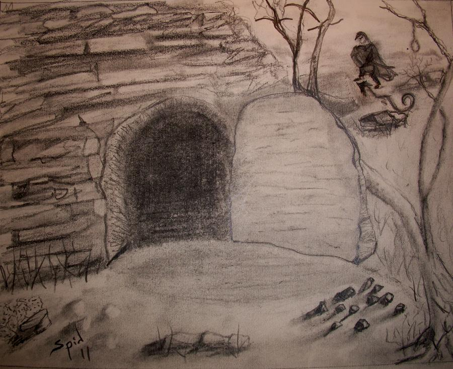 Empty Tomb Drawing  - Empty Tomb Fine Art Print