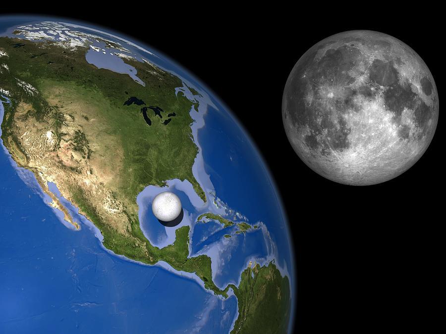 Enceladus Size Comparison, Artwork Photograph
