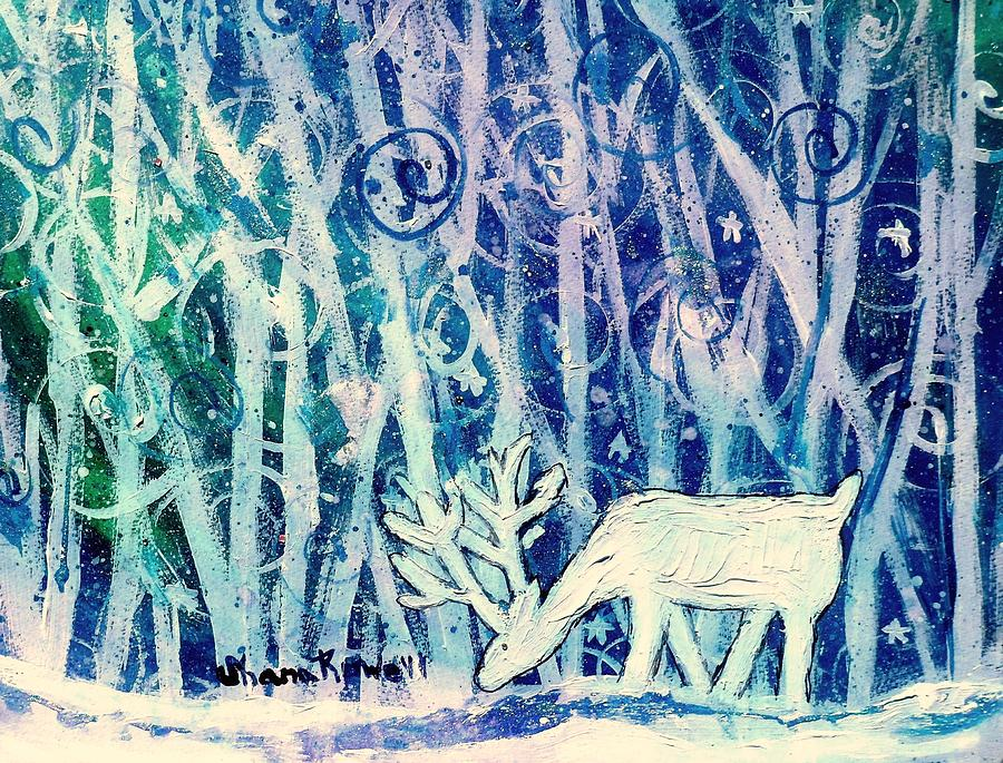 Winter Painting - Enchanted Winter Forest by Shana Rowe Jackson