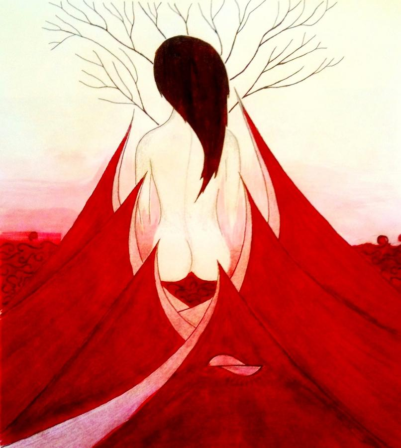 Enchantress Red Painting