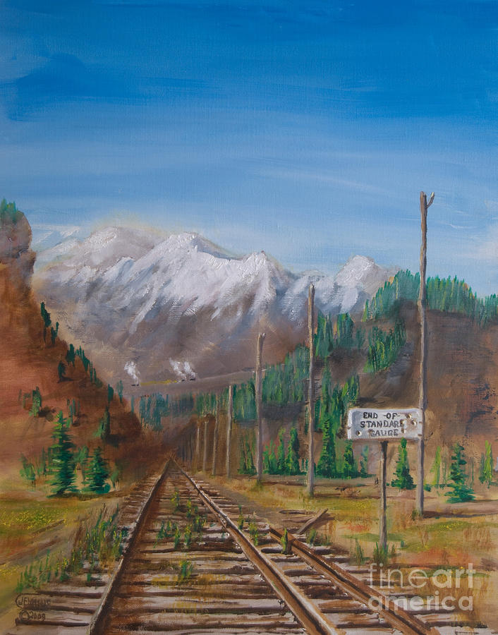End Of Standard Gauge Painting  - End Of Standard Gauge Fine Art Print