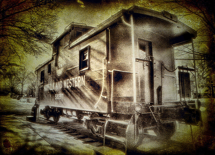 Caboose Photograph - End Of The Line II by Steven Ainsworth