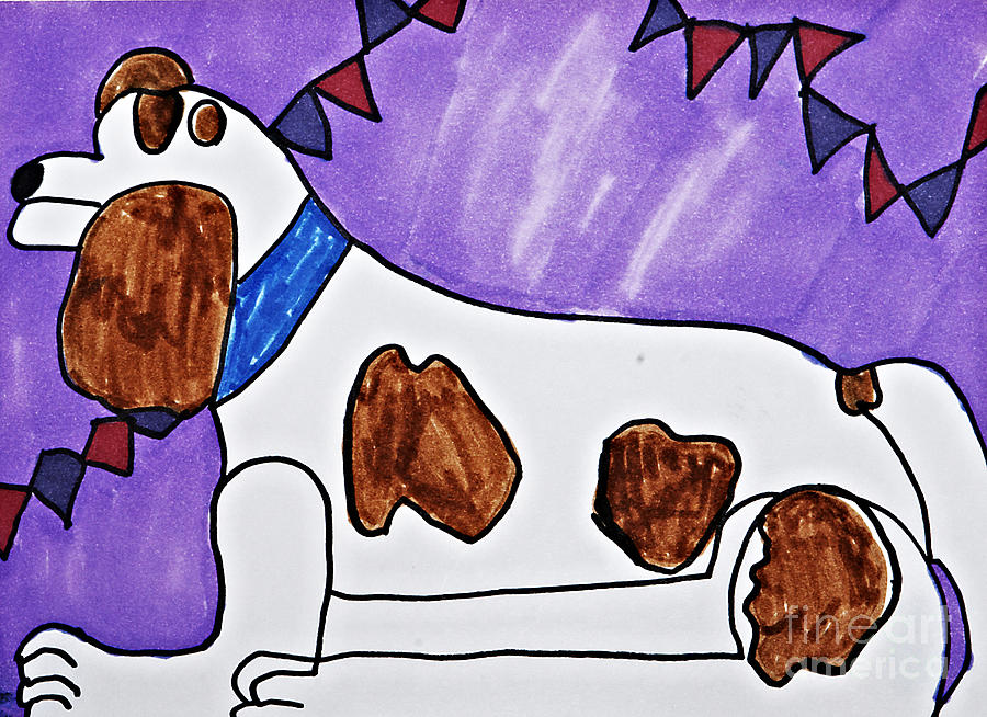 Dog Drawing - Endearing Friend by Stephanie Ward