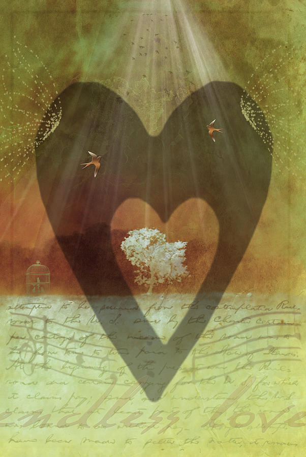 Endless Love Digital Art  - Endless Love Fine Art Print