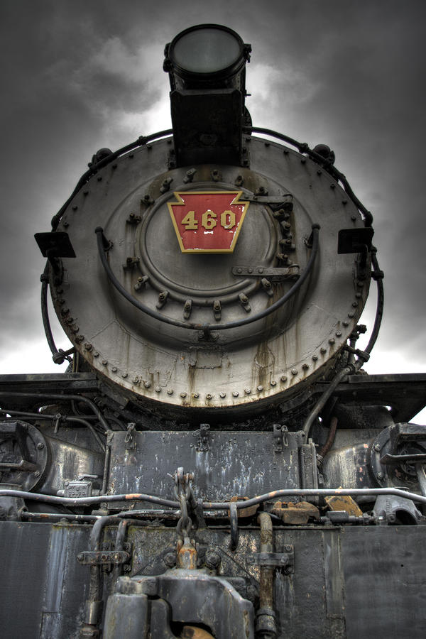 Engine 460 Front And Center Photograph