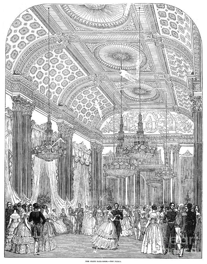 England - Royal Ball 1848 Drawing