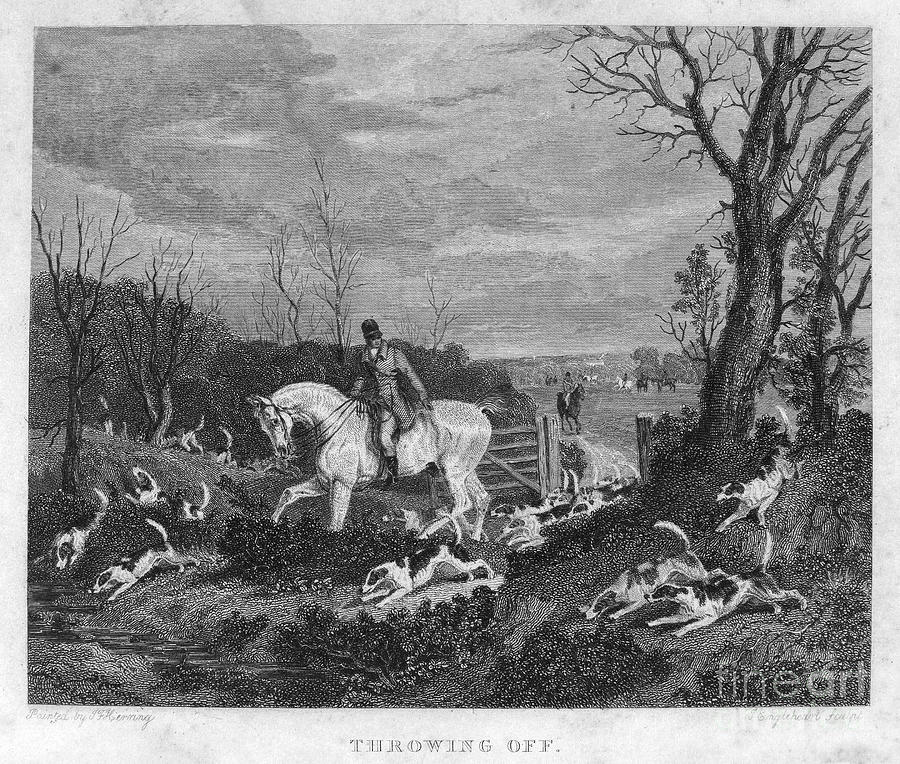 England: Fox Hunt, 1833 Photograph  - England: Fox Hunt, 1833 Fine Art Print