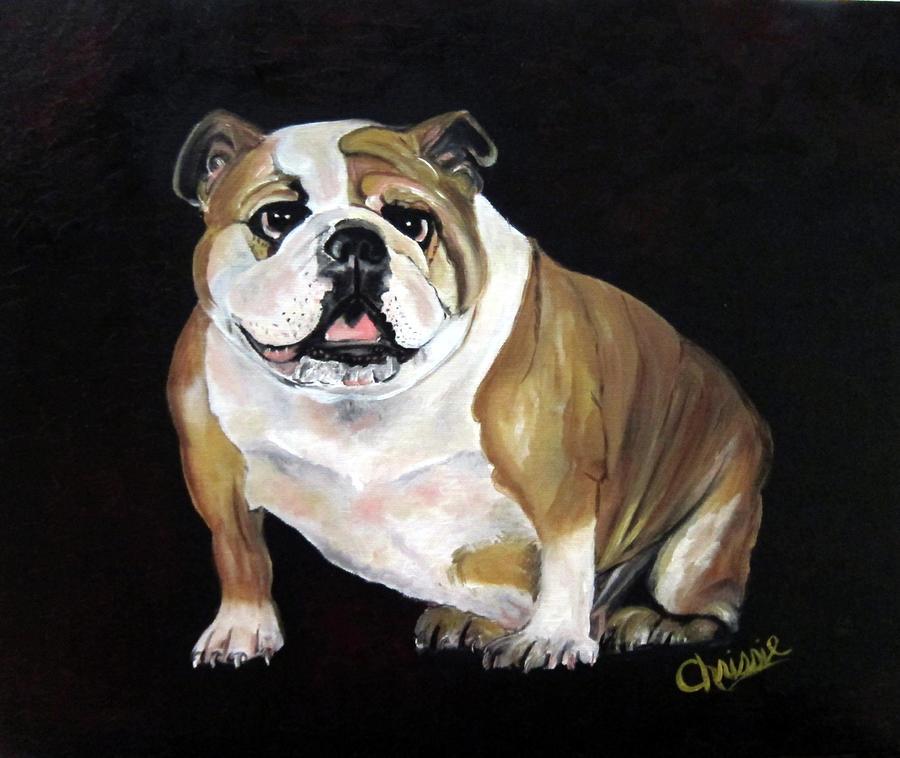 English Bulldog Painting by Chrissie Leander