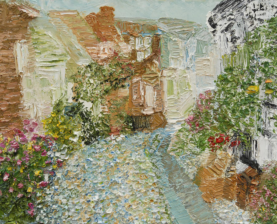 English Cobblestone Painting  - English Cobblestone Fine Art Print