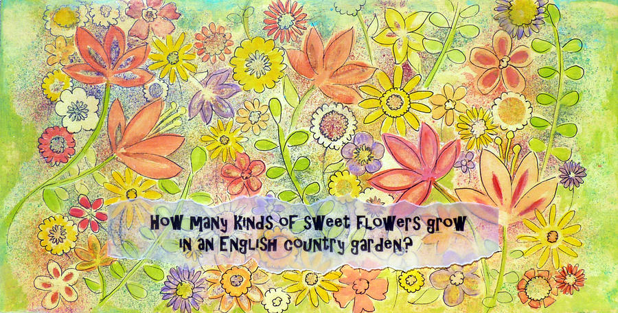 English country garden flowers painting english country garden