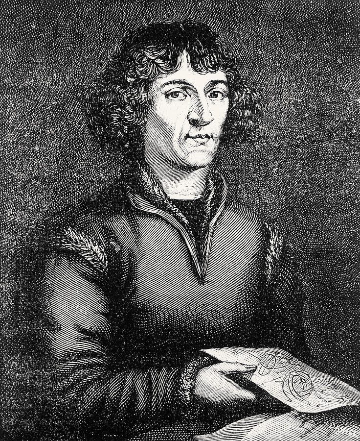 Engraving Of Nicolas Copernicus, Polish Astronomer Photograph