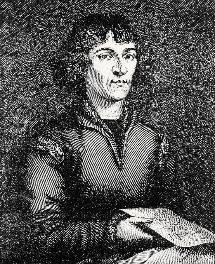 Copernicus Photograph - Engraving Of Nicolas Copernicus, Polish Astronomer by Dr Jeremy Burgess
