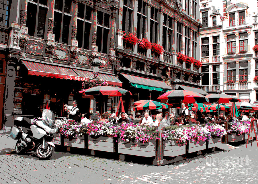 Enjoying The Grand Place Photograph  - Enjoying The Grand Place Fine Art Print