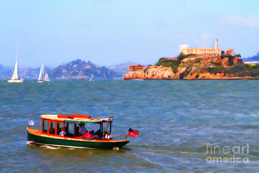 Enjoying The San Francisco Bay With Alcatraz Island In The Distance . 7d14323 Photograph  - Enjoying The San Francisco Bay With Alcatraz Island In The Distance . 7d14323 Fine Art Print
