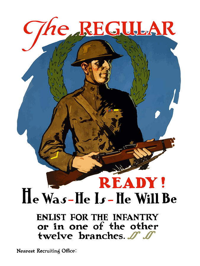 Enlist For The Infantry Painting  - Enlist For The Infantry Fine Art Print