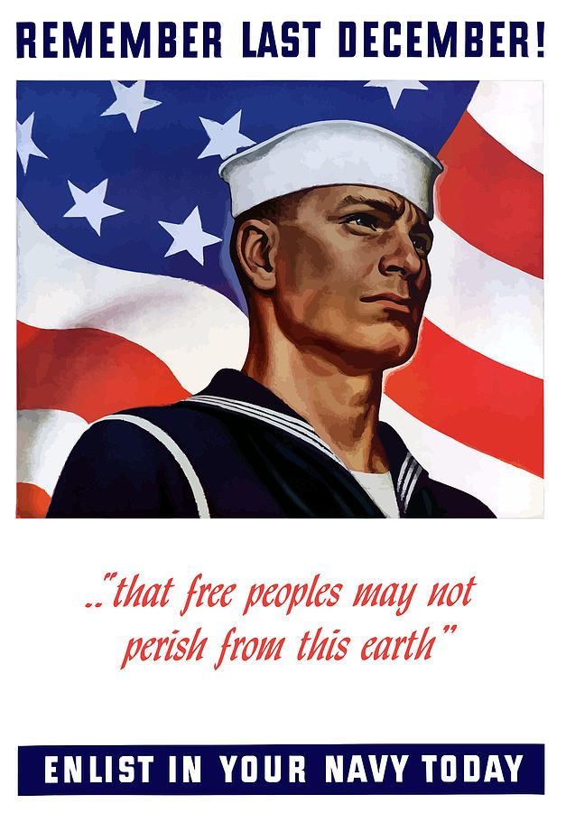 Enlist In Your Navy Today Painting