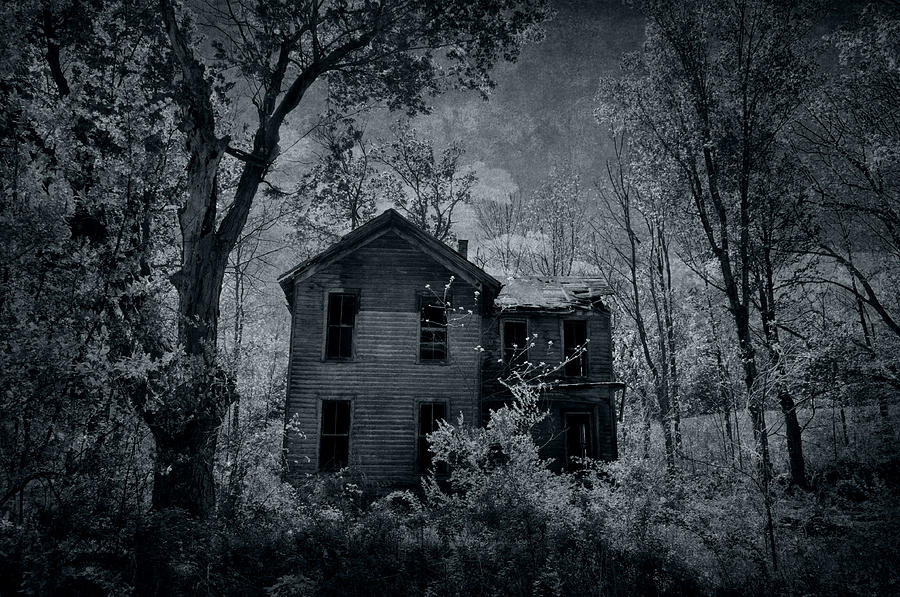 Abandoned House Photograph - Enter by Emily Stauring