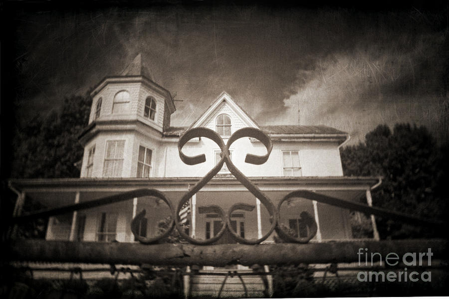 Gate Photograph - Enter If You Dare by Jane Brack
