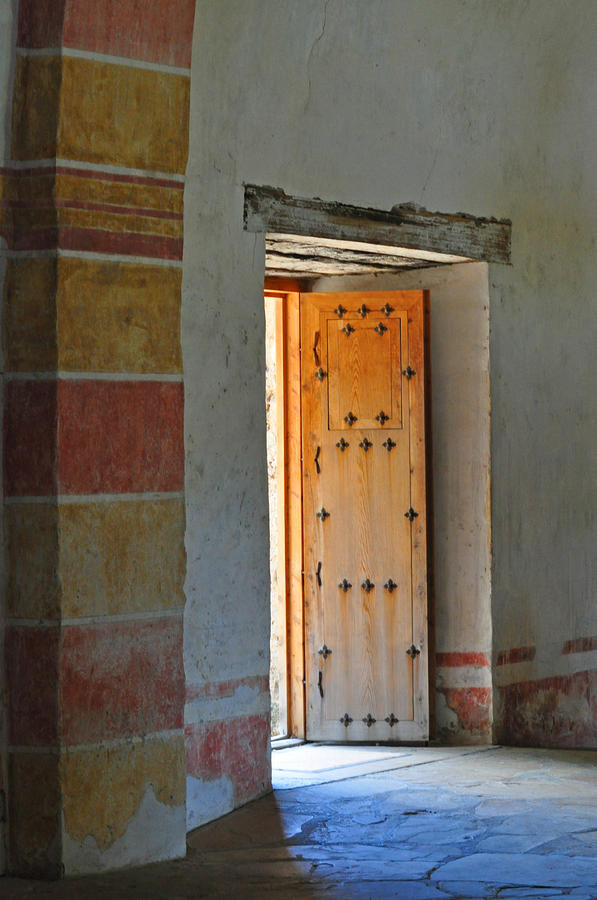 Door Photograph - Enter Life by Peter  McIntosh