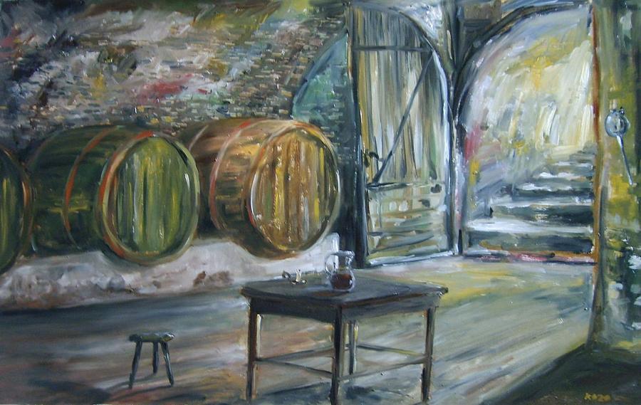 Enterieur Of The Old Wine Cellar By Zoltan Kollar