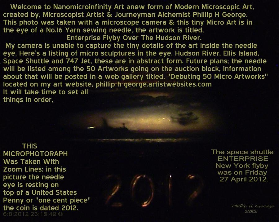 Enterprise Flyby Over Hudson River Info Photo No.3 Painting