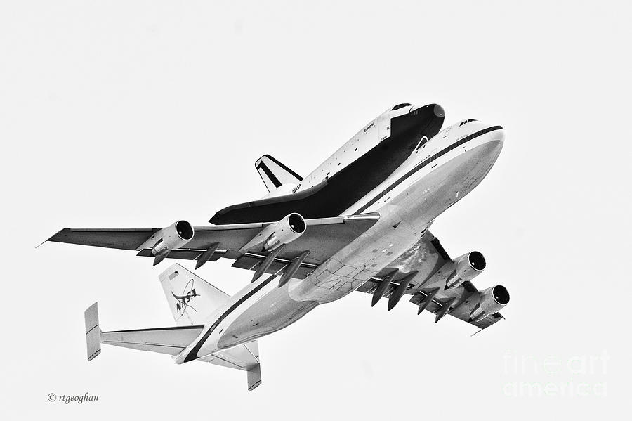 Enterprise Shuttle Ny Flyover Photograph  - Enterprise Shuttle Ny Flyover Fine Art Print