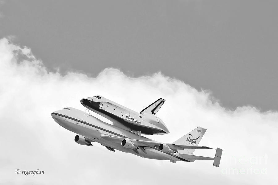Enterprise Shuttle Over Ny Photograph