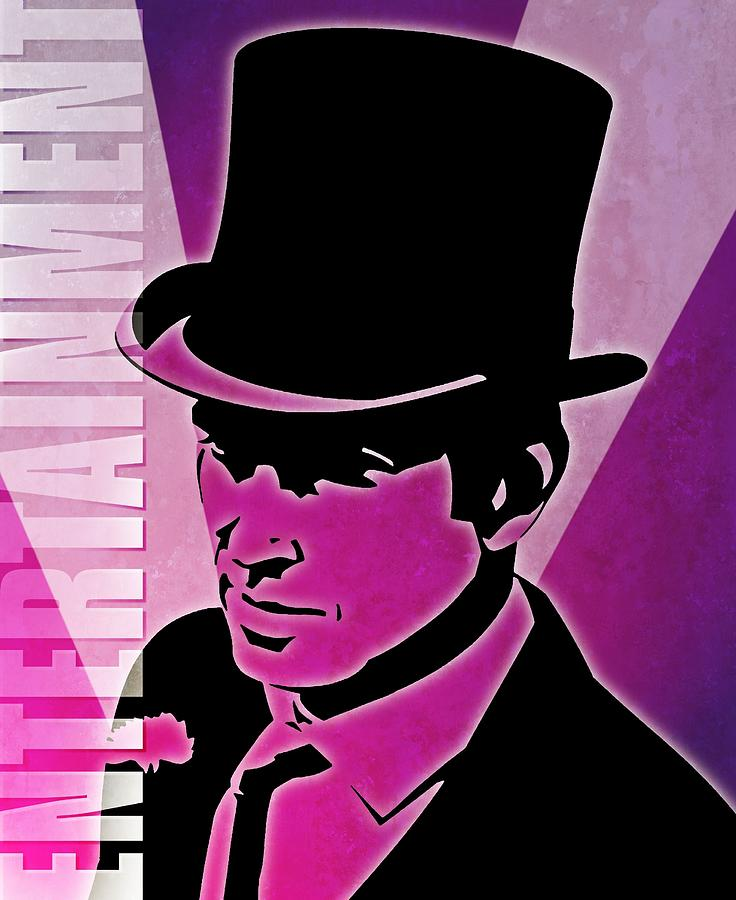 Entertainment Poster With Man In Top Hat Digital Art