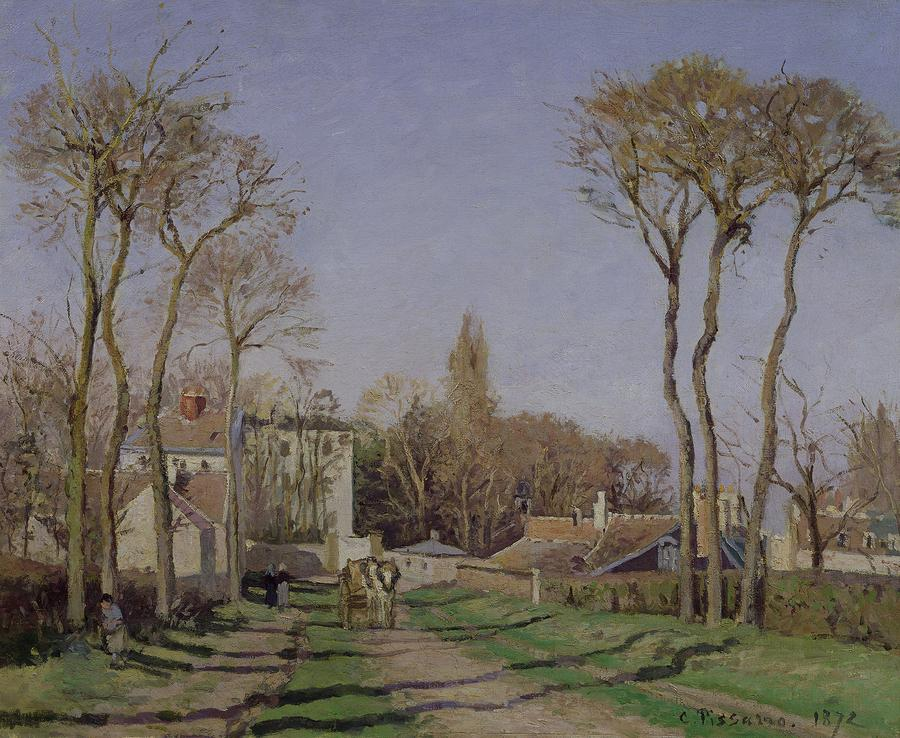 Entrance To The Village Of Voisins Painting