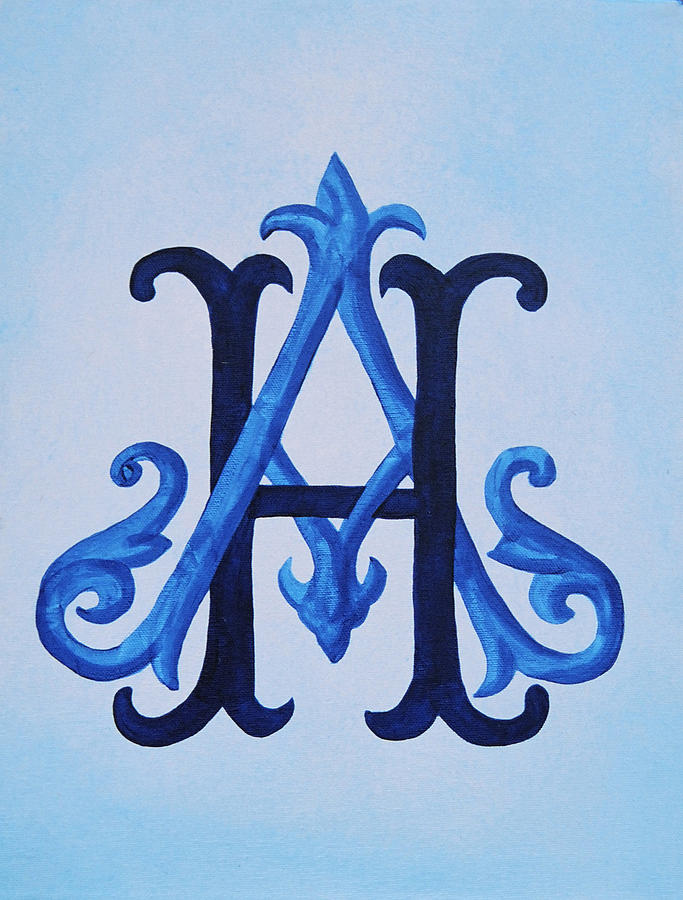 entwined victorian monogram by katie fitzgerald