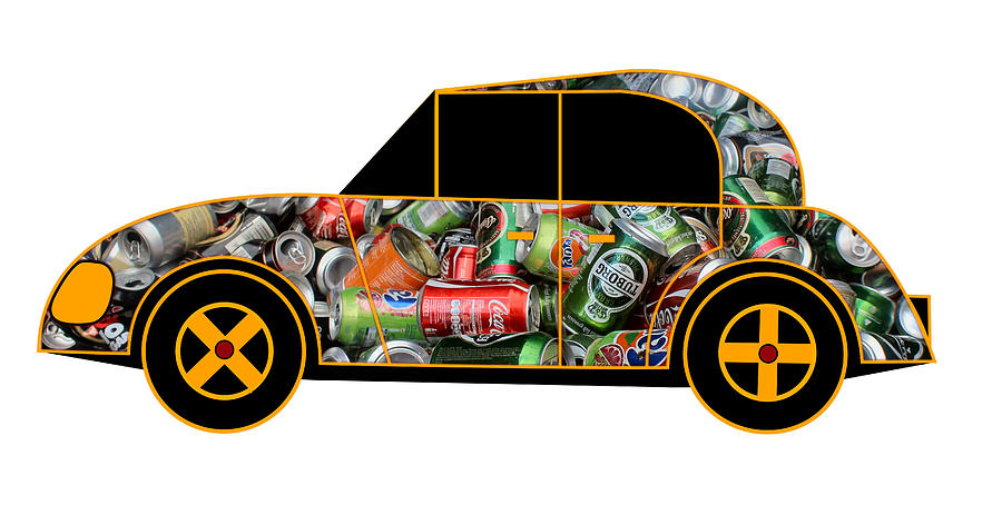 Environmentalists Car - Virtual Car Digital Art