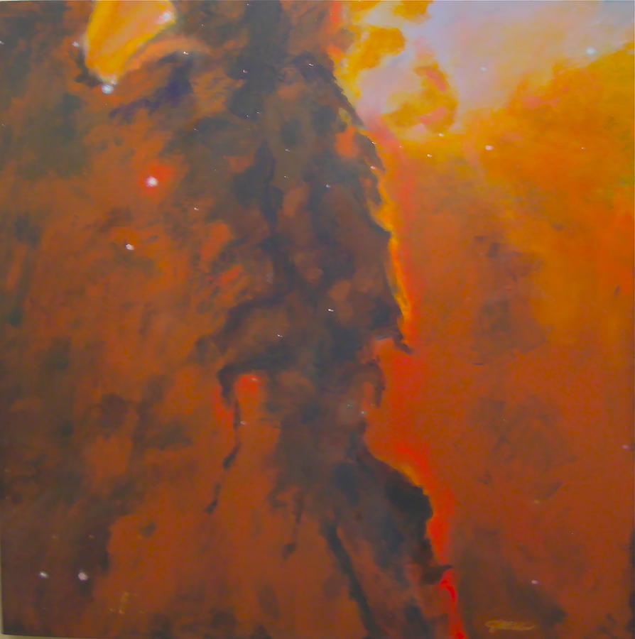 Epsilon Eridani A Stellar Spire In Eagle Nebula Painting